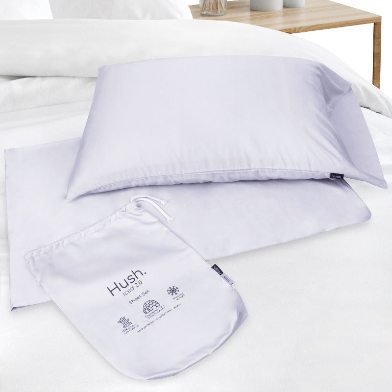 cooling pillow bed sheet set iced organic bamboo hot sleepers long-lasting fitted bedding pillowcase storage bag soft fluffy