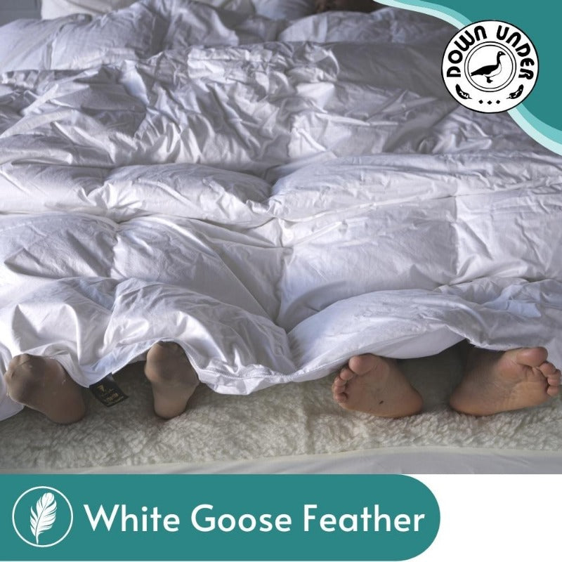 White Goose Feather Duvet (With 5% Down)