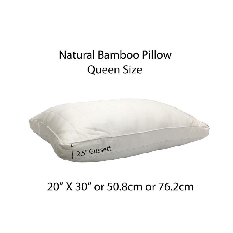 long strand bamboo pillows comfortable humidity control head neck support moisture-wicking pillow eco-friendly soft quilted