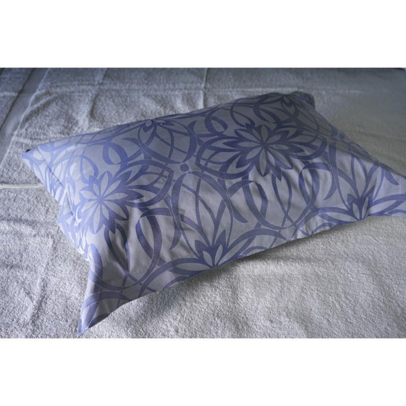 premium 100% cotton duvet comforter cover set blue leaves pattern ultra-soft comfortable washable long-lasting zipper closure