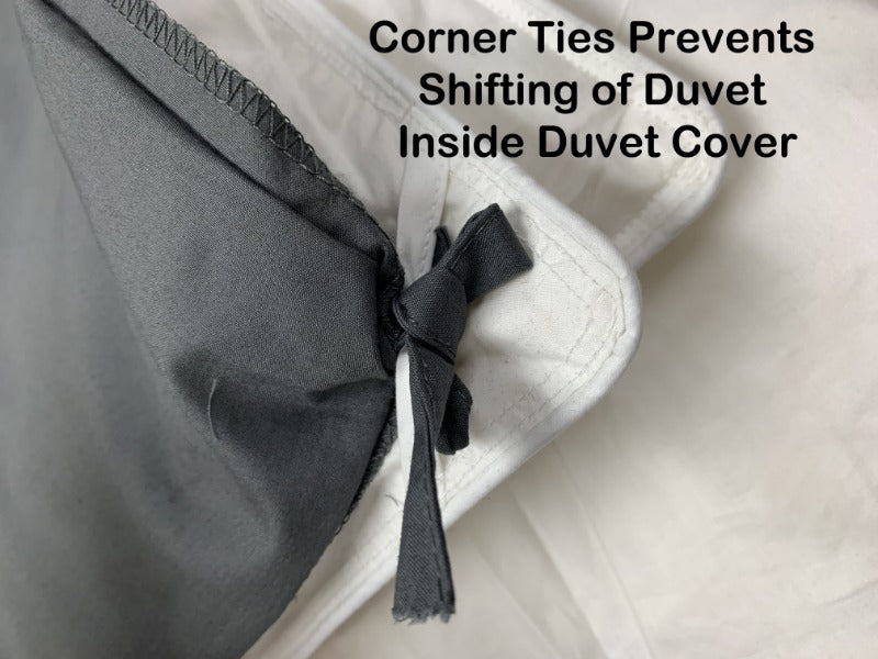 cotton satin duvet bedspreads coverlets blanket quilt warm corner ties tabs 300 thread count comforter cozy white