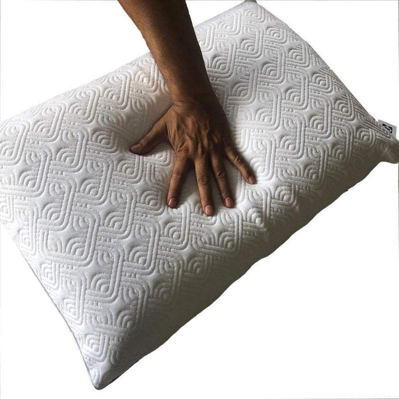 smart memory foam pillows ventilated firm breathable zipper cover sleep cushioning odor-free personalised support pillow