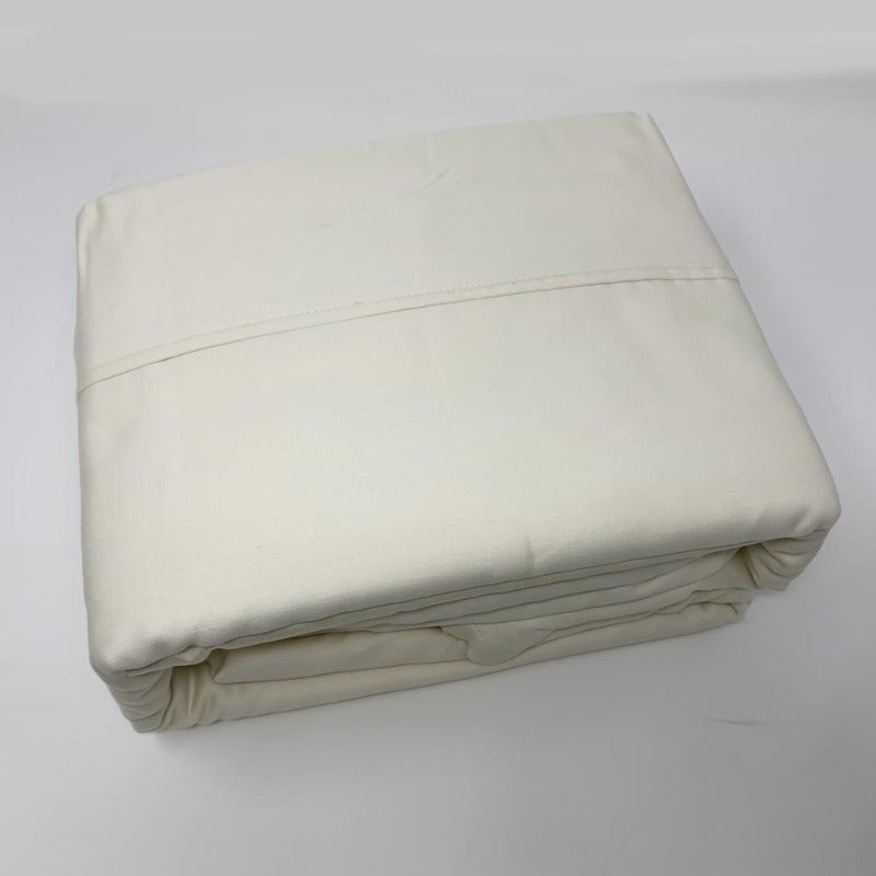 525TC 100% Cotton Sheet Set Ivory - Down Under Bedding and Mattresses