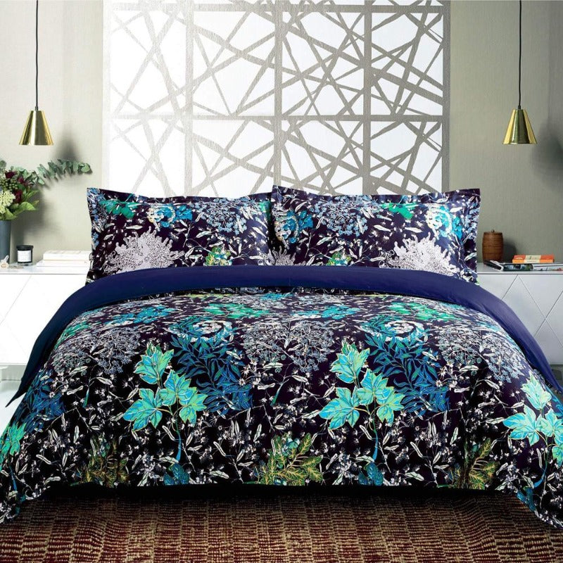 Landers 3PC 100% Cotton Duvet Cover Set - Down Under Bedding and Mattresses