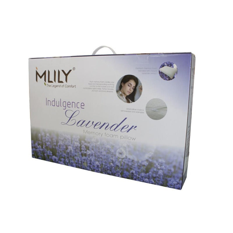 MLILY Lavender Memory Foam Queen Pillow