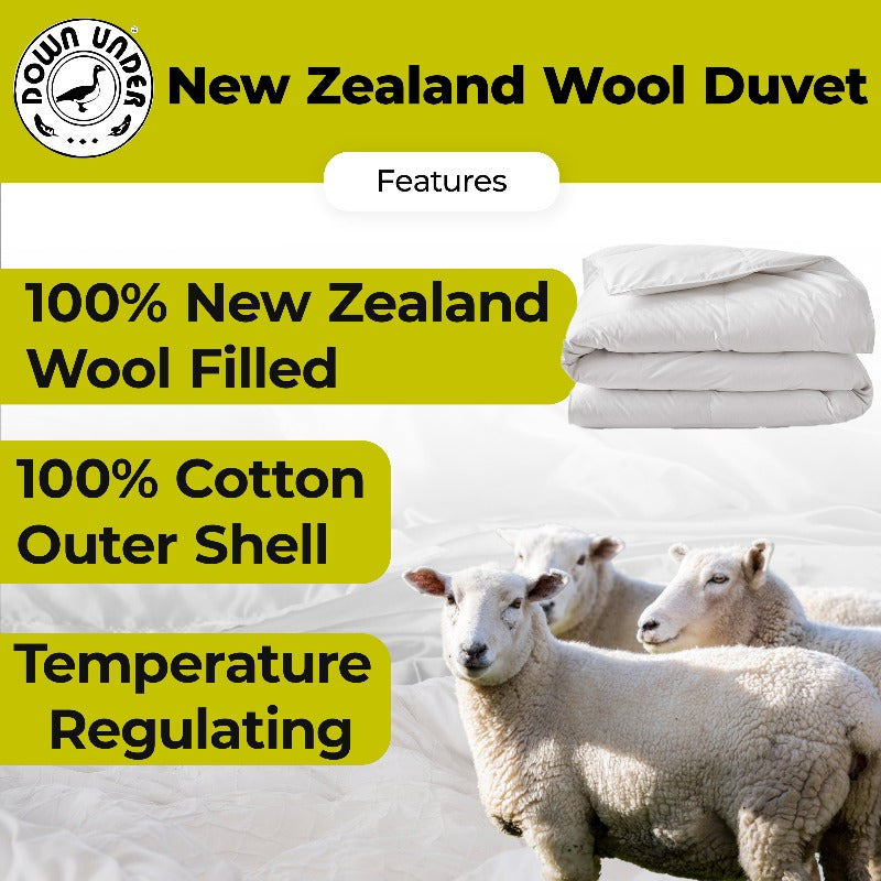 newzealand wool comforter all season duvet eco-friendly quilt cotton outer cover summer winter hotel collection corner ties duvat