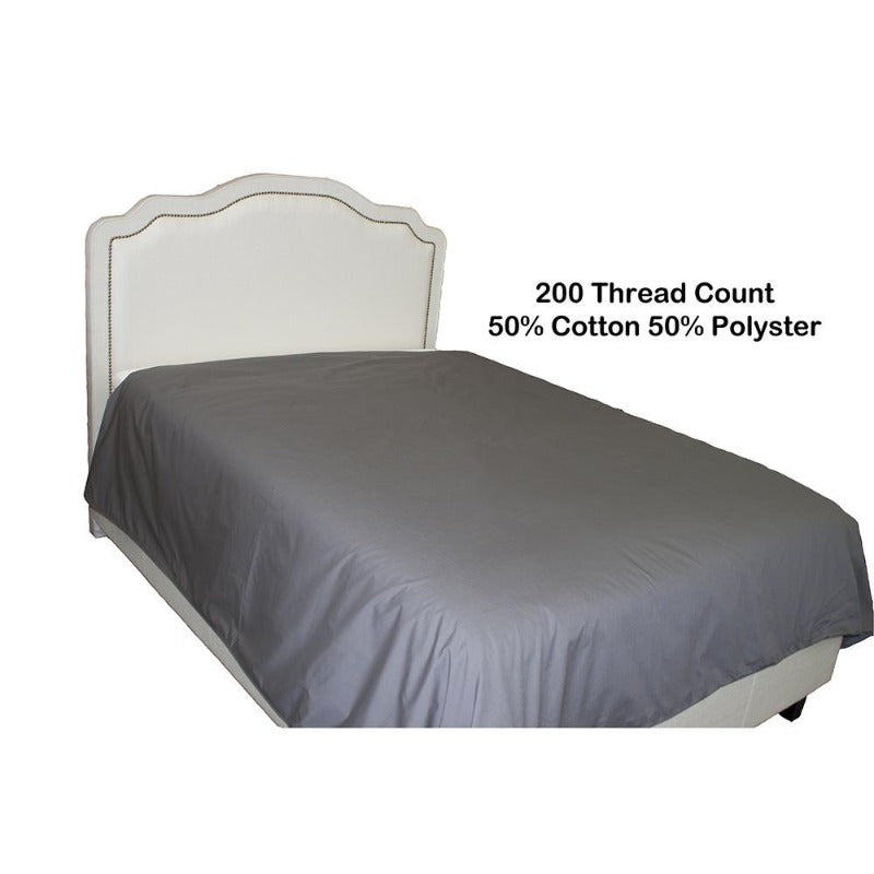 Percale Charcoal Grey Duvet Cover with Corner Ties