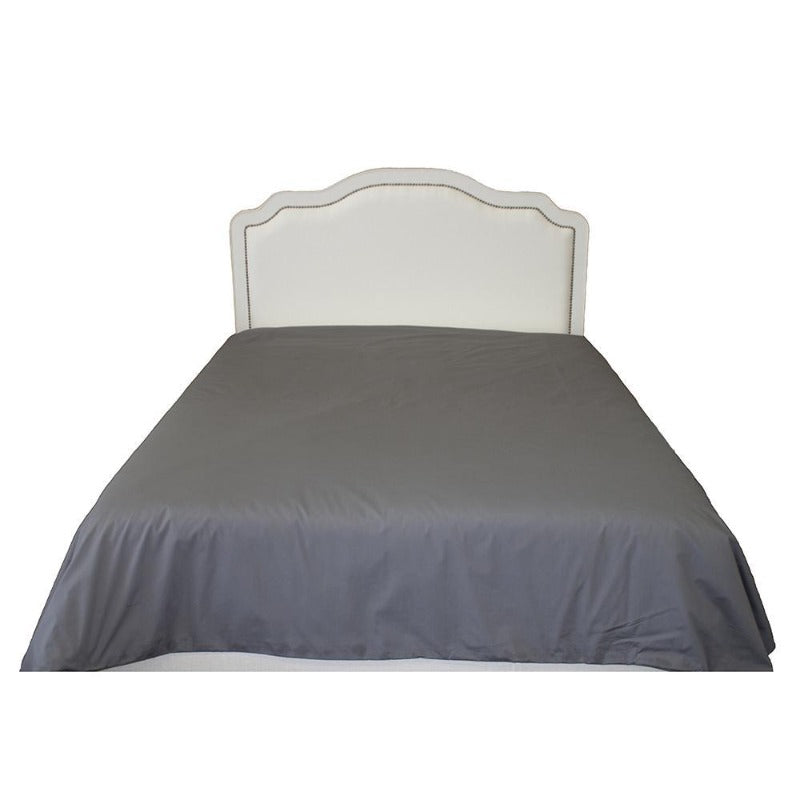 Percale Charcoal Grey Duvet Cover with Corner Ties Tabs - Down Under Bedding and Mattresses
