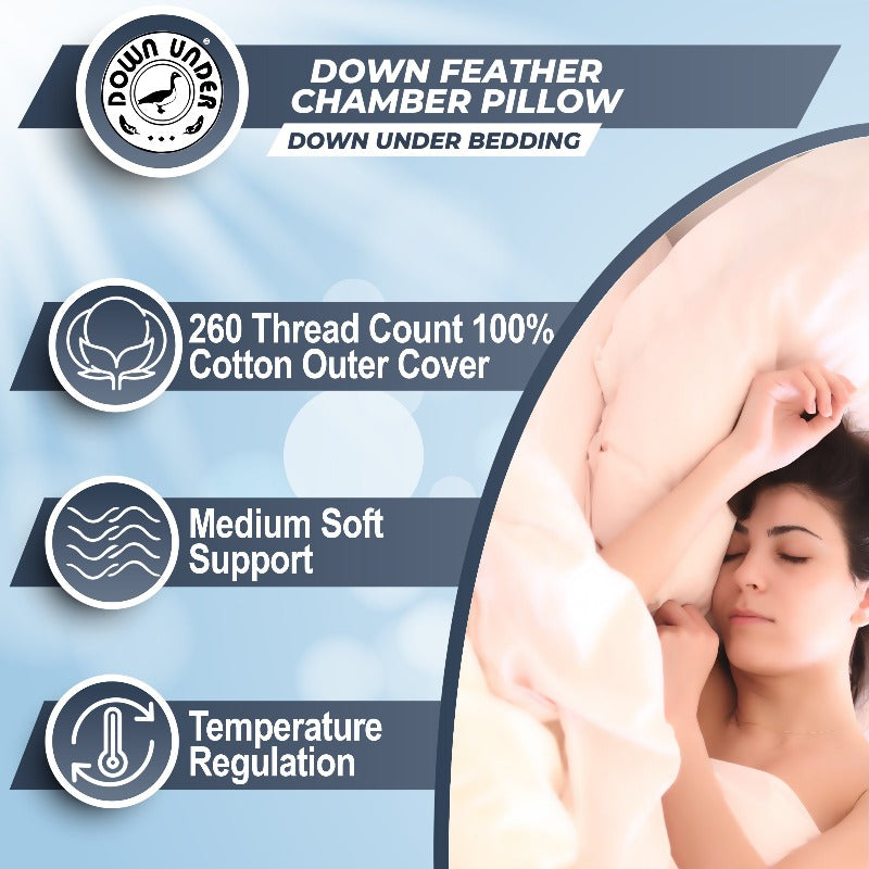 temperature regulation down feather pillow Canada