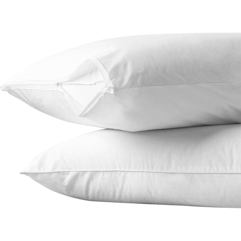 100% Cotton Pillow Protector 2 Pack - Down Under Bedding and Mattresses