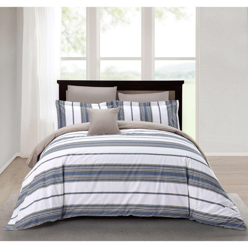 duvet comforter bedding hotel bedroom decor cotton all-season soft 220 thread count zipper washable reversible breathable