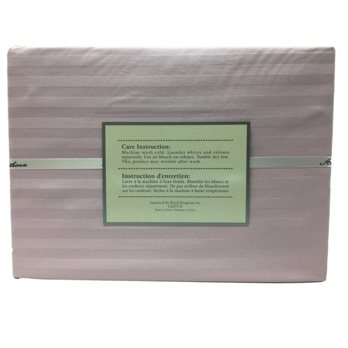 320TC 100% Cotton Damask Stripe 3PC Duvet Cover Set - Down Under Bedding and Mattresses