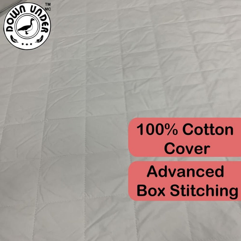 quilted mattress pad protector all-season polyester elasticated soft long strand silk luxurious overlay plush box stitch