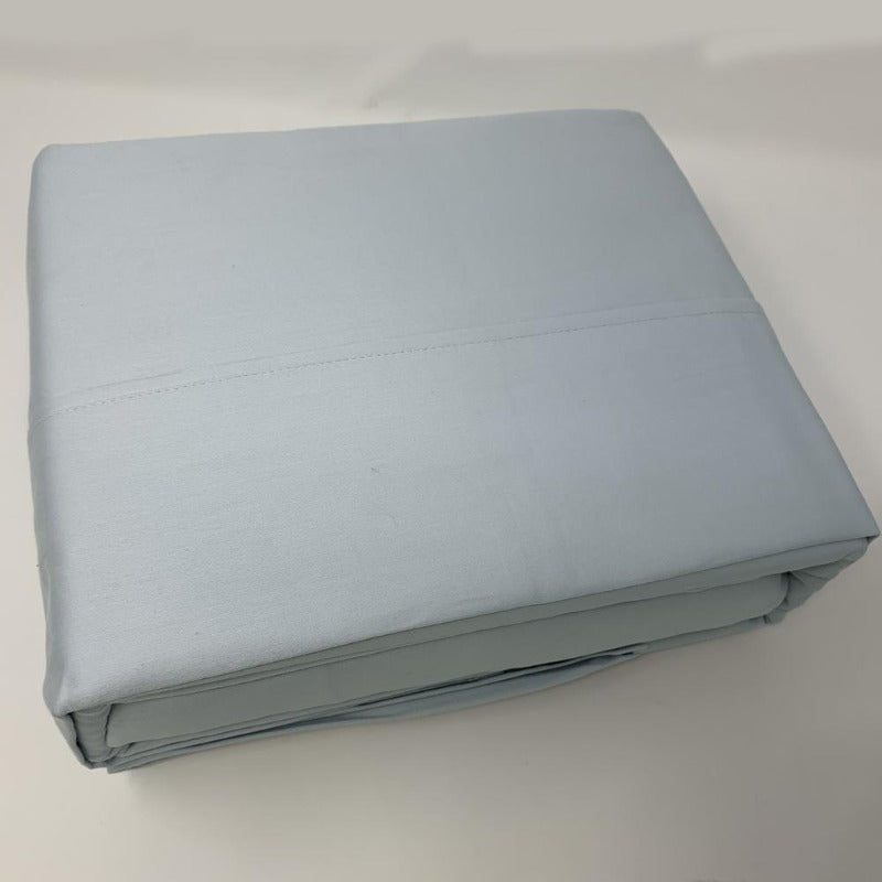 525TC 100% Cotton Sheet Set Sky Blue - Down Under Bedding and Mattresses