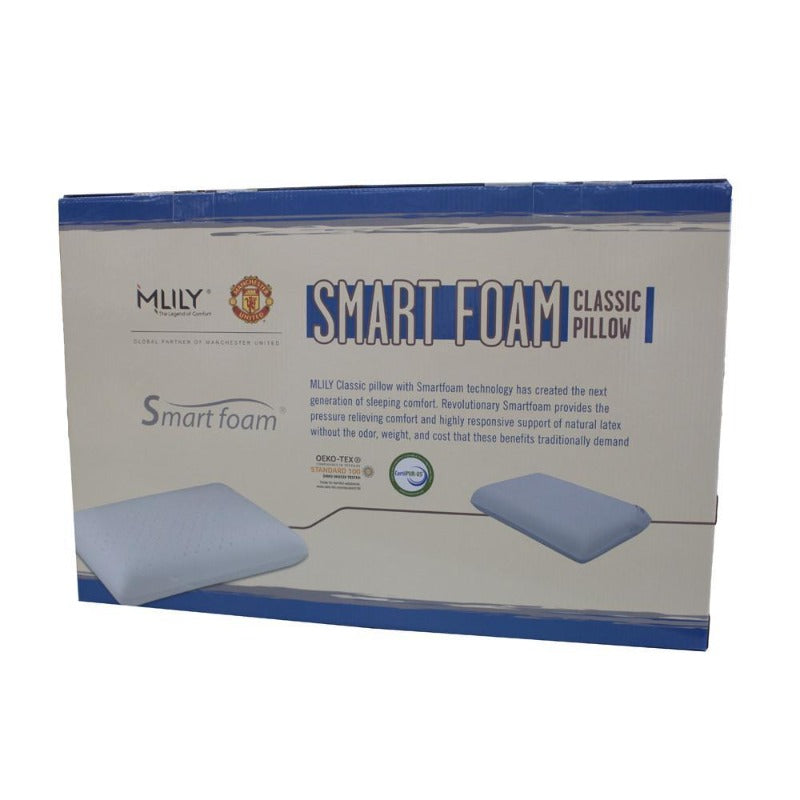 MLILY Smart Foam Classic CertiPUR-US Ventilated Pillow - Down Under Bedding and Mattresses
