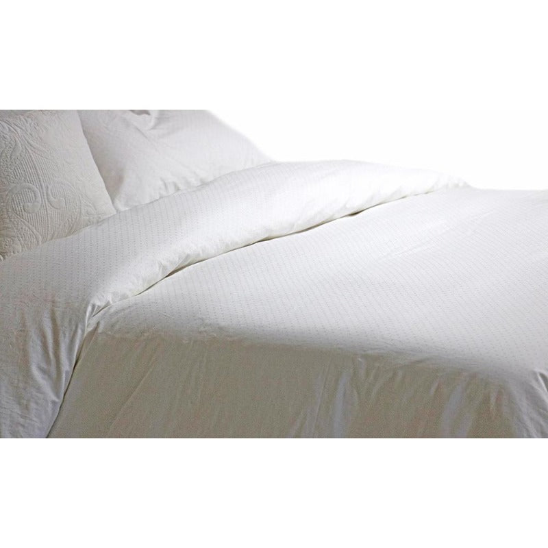 100% Combed Egyptian Cotton Swiss Dot Duvet Cover