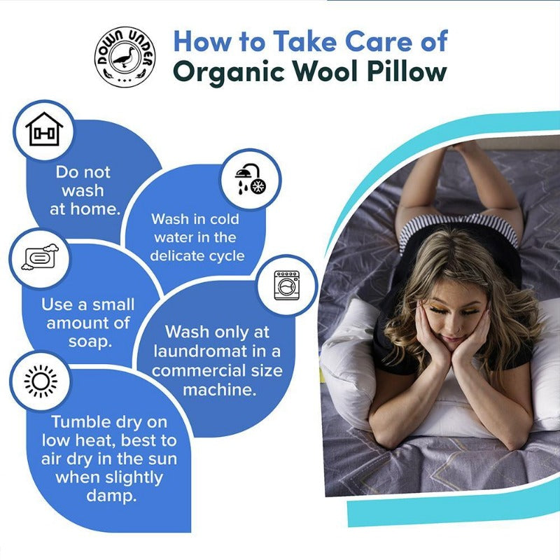 How to take care of an organic wool pillow