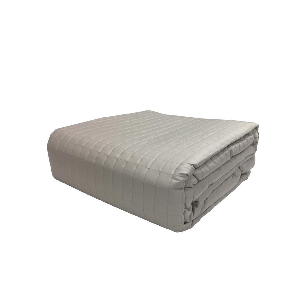 Hotel Collection 400TC 100% Cotton Quilted Duvet Cover Coverlet Bed Spread - Down Under Bedding and Mattresses