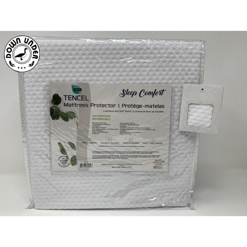 tencel mattress protector protege matelas luxurious washable super soft stretchable fabric temperature control natural