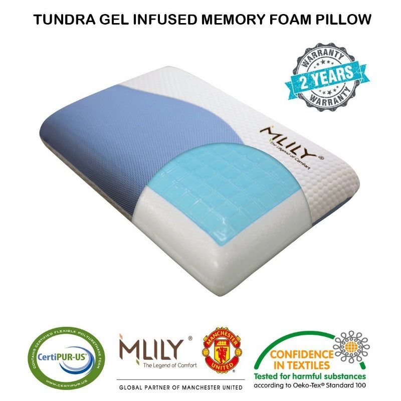 MLILY Tundra Gel Infused Memory Foam Pillow