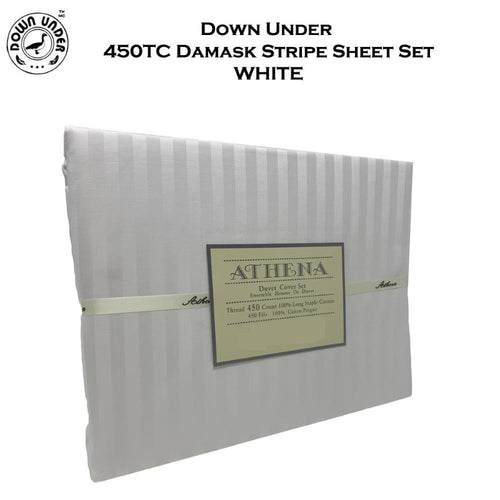 Down Under 450TC Damask Stripe Sheet Set - Down Under Bedding and Mattresses