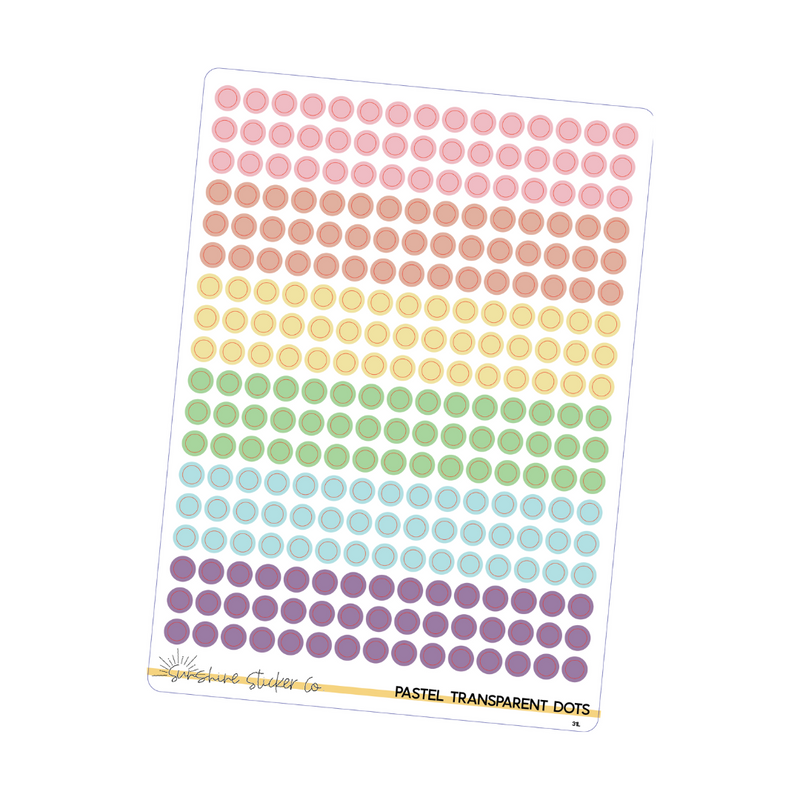 Transparent Pastel Dot Stickers
