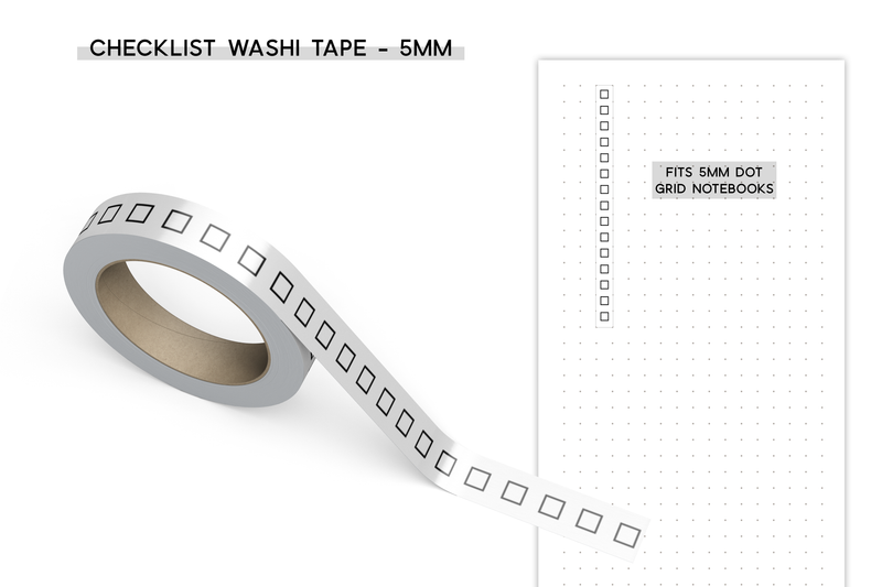 Square Checklist Washi Tape - 5MM