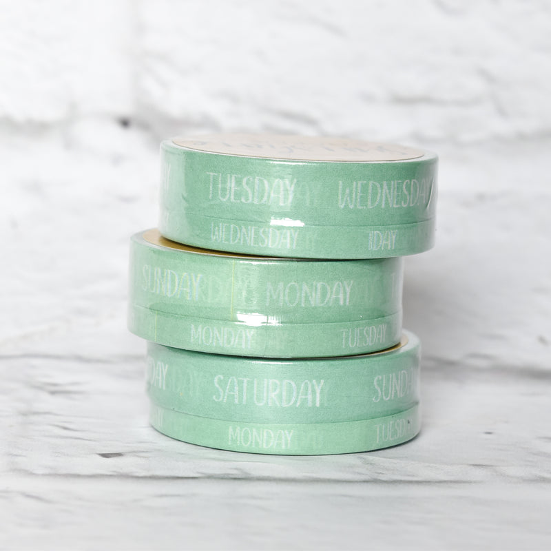 Weekday Washi Tape - Seaglass