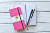 Dot Grid Slim Notebook - Pink Cover