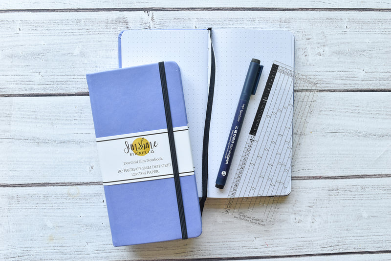 Dot Grid Slim Notebook - Lavender Cover