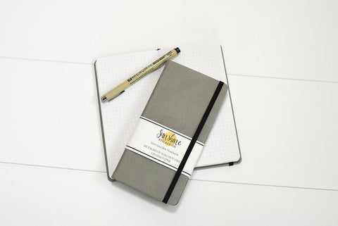 Dot Grid Slim Notebook - Grey Cover