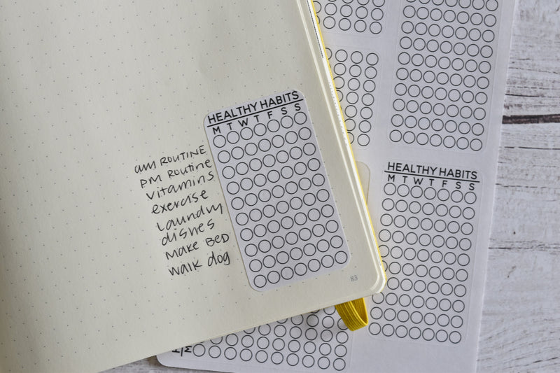 Habit Tracker Planner Stickers | Made for your bullet journal.