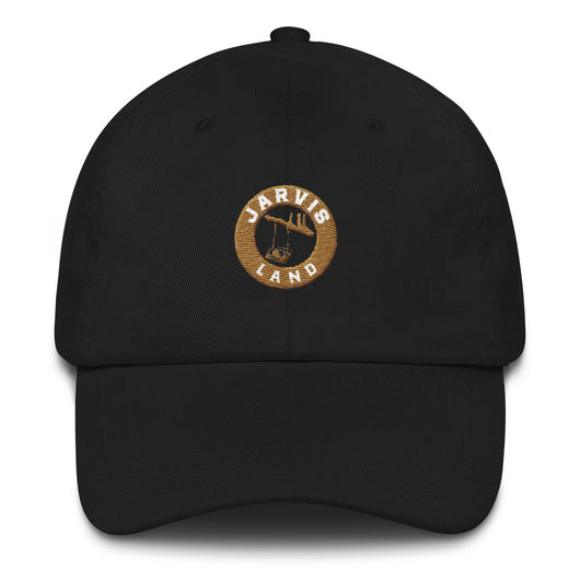 Dad hat - (white and brown logo)
