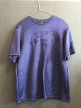 MADS DINESEN SWEAT TSHIRT EMBROIDERY BLUE