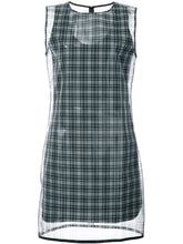 HELMUT LANG - CHECKED PRINTED DRESS