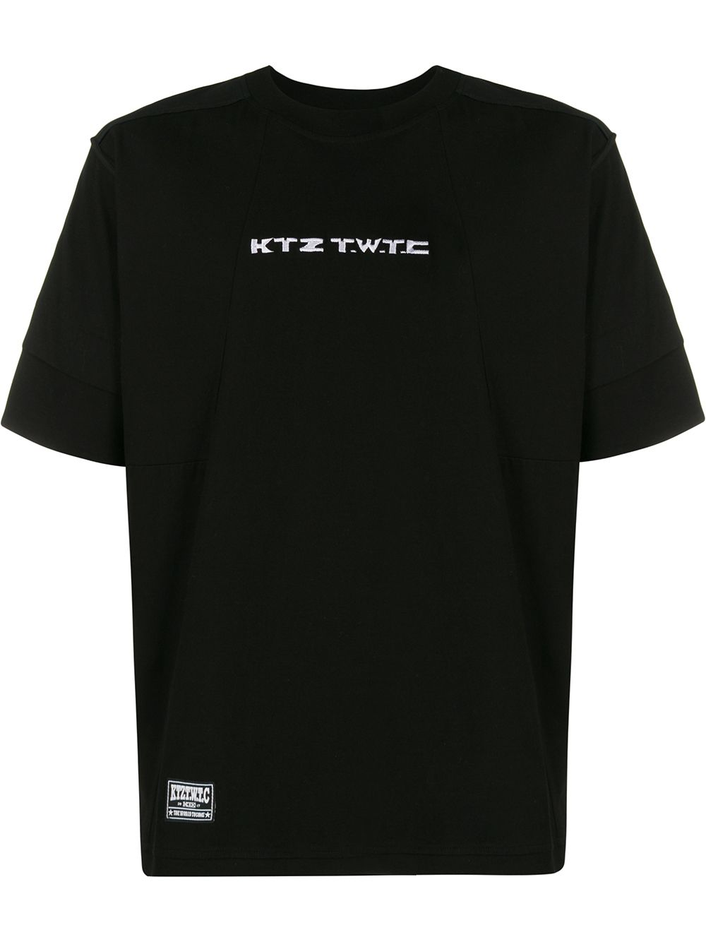 KTZ - Embroidered Inside Out T-Shirt Black