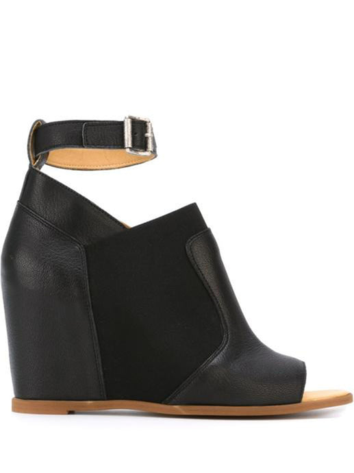 MM6 MAISON MARGIELA - Ankle Strap Wedge Sandals Black