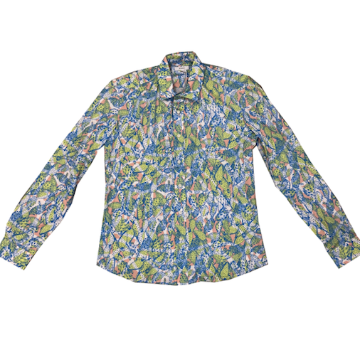 KIT NEALE - Cactus Como Shirt Blue