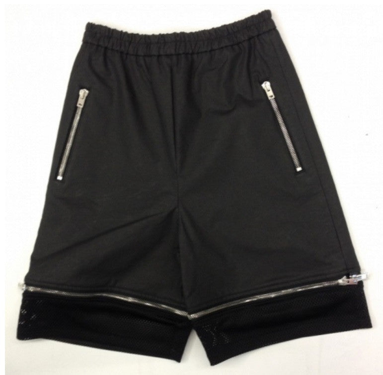 ASGER JUEL LARSEN HAMMERSMITH SHORTS WITH ZIPPER DETAIL BLACK