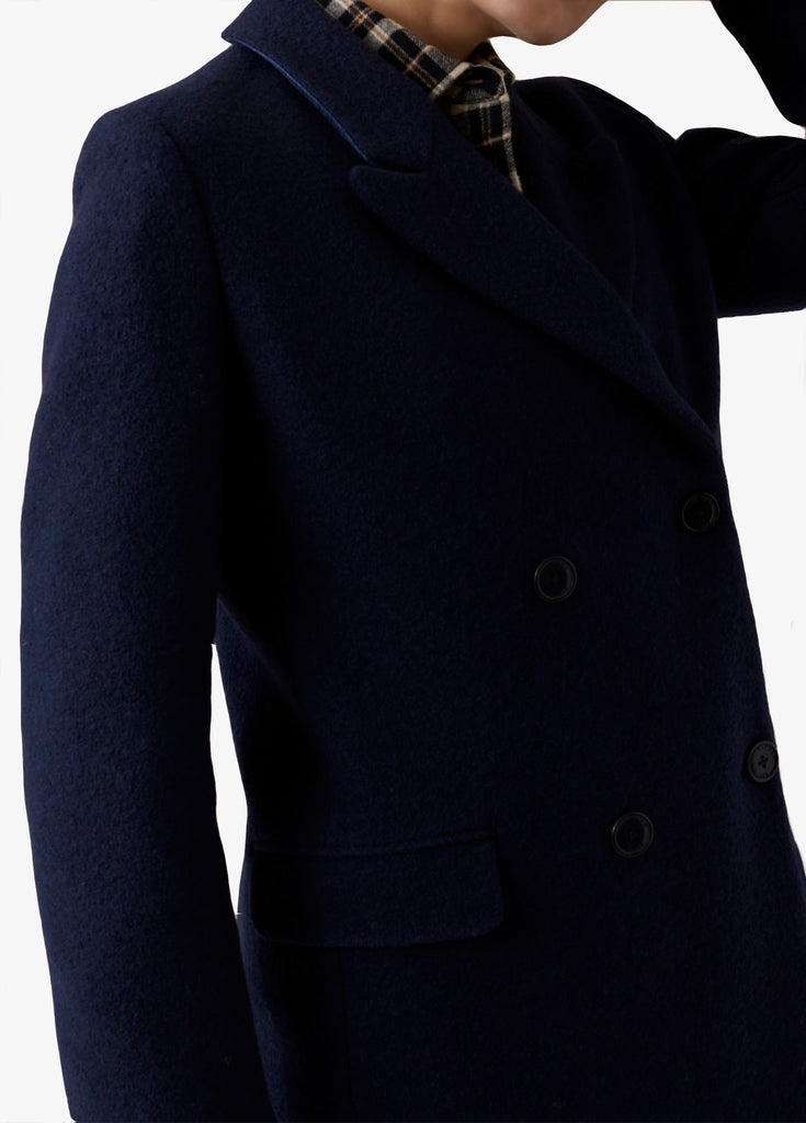 Closed Virgin Wool Coat Navy