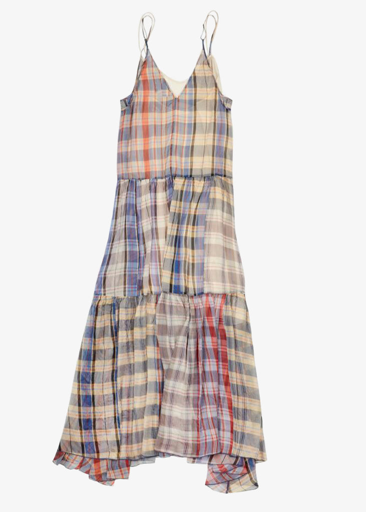 Forte Forte_Tartan organza silk dress
