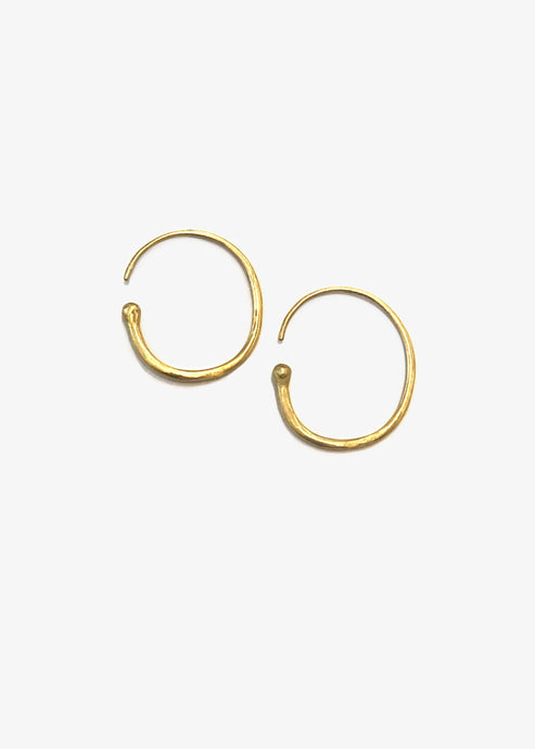Heike_gold hoops_open gold hoops_18 gold earrings