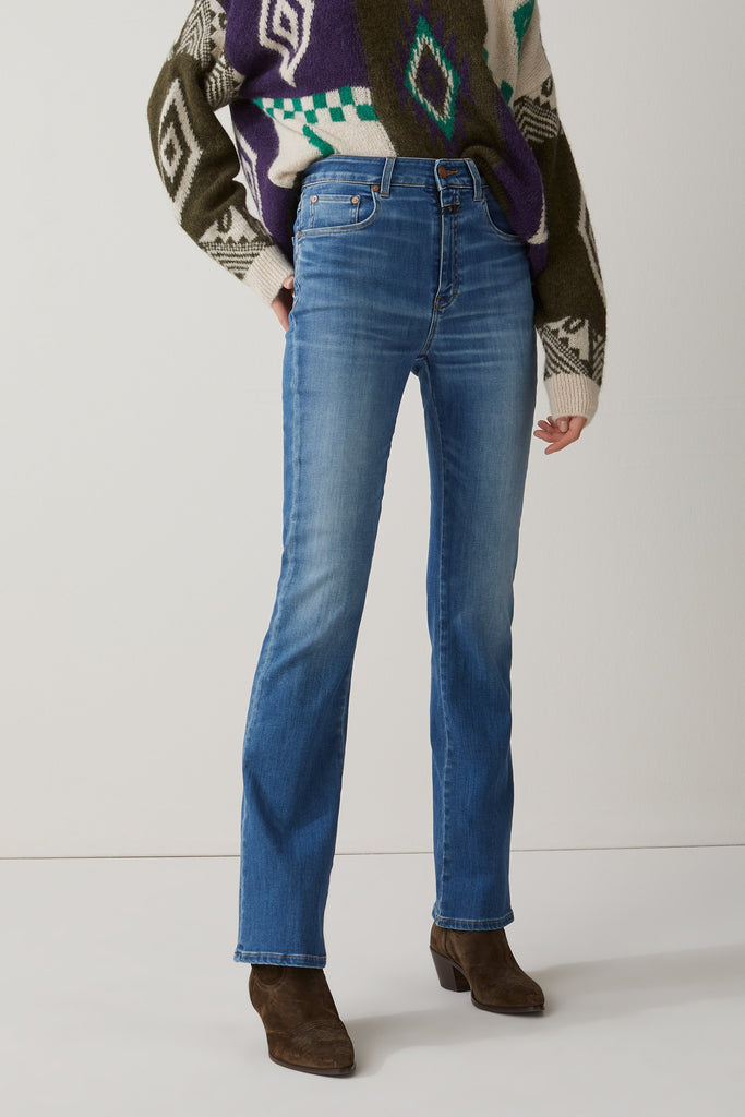 Closed_Leaf Power Stretch Blue Denim