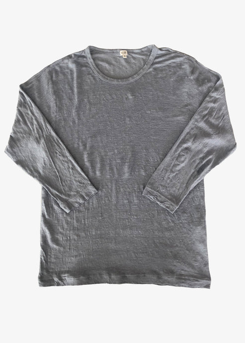 Vlas Blomme_KL Light Quarter Sleeve T-shirt_Blue Grey