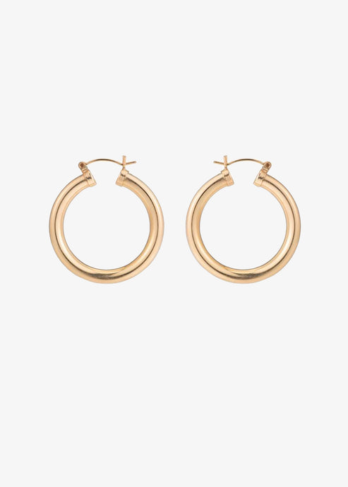 Mara Carrizo Scalise 14K Gold Filled Hollow Thick Hoops