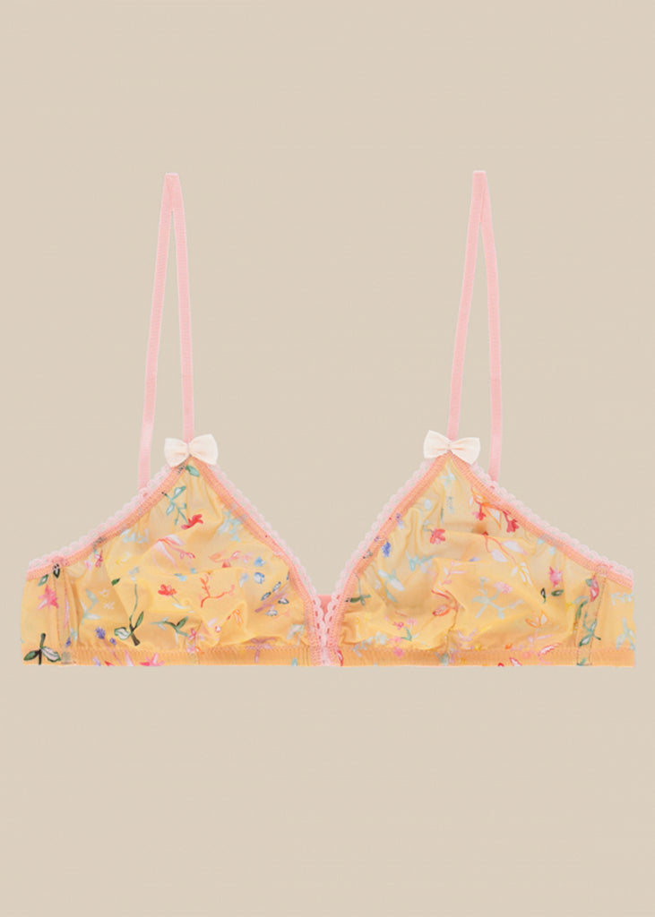 Momoni_WIRELESS TRIANGLE BRA, FLOWER PATTERN_201MMOUN001_20147MO_4020