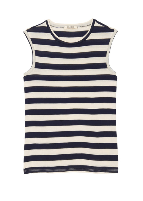 Nili Lotan_Dark Navy Stripe Muscle Tee