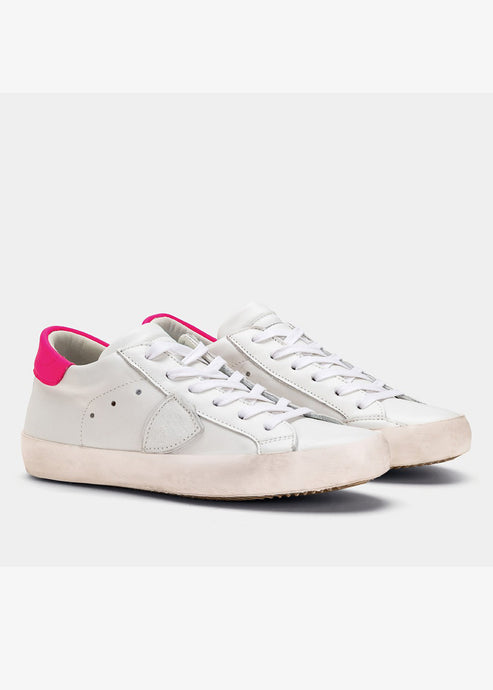 Philippe Model Paris Sneaker - Fuchsia/White
