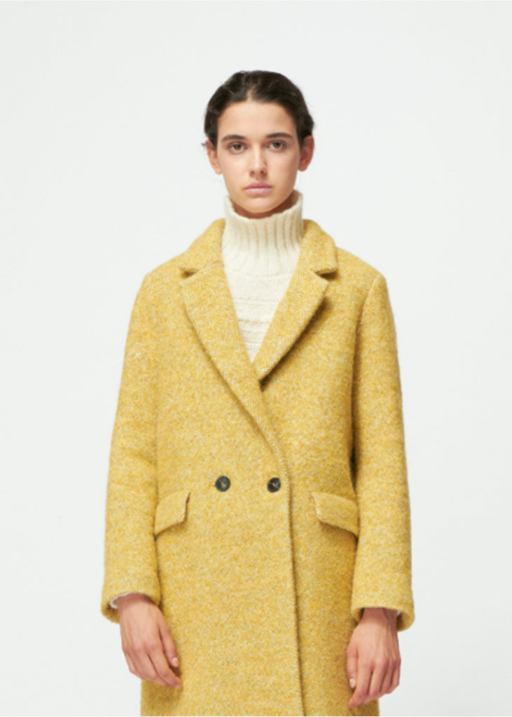 Pomandere_Double-Breasted Masculine Coat