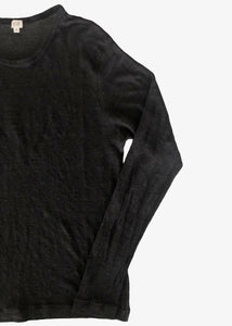 Vlas Blomme_KL Light Long-sleeved T-shirt_Linen_black